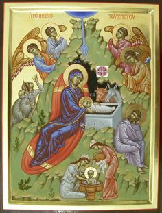 Religious Icons, Religious Art, Bible Photos, Church Icon, True Meaning Of Christmas, Orthodox Icons, Bible Stories, Christian Art, Christmas And New Year