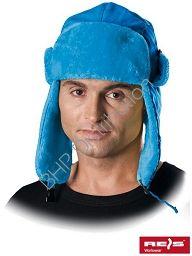 Niebieska czapka uszanka CZOEXTREME