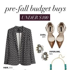 glitter guide: Caitlin's Budget Buys: Pre-Fall Under $100