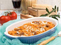 Mit diesem Rezept schmecken Kritharaki herrlich griechisch Veggie Recipes, New Recipes, Vegetarian Recipes, Recipes Dinner, Greens Recipe, Different Recipes, Risotto, Macaroni And Cheese, Nom Nom