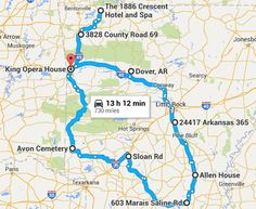 We've mapped it out. Now it's time to brave it out and take this road trip around Arkansas to visit the most haunted locations in the Natural State.