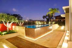 contemporary pool patio landscape ideas modern outdoor lighting pool deck ideas