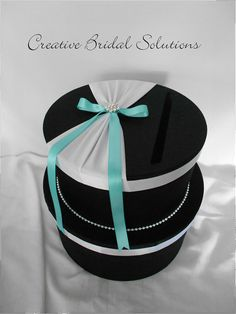 Black and White with Tiffany Blue Wedding Card
