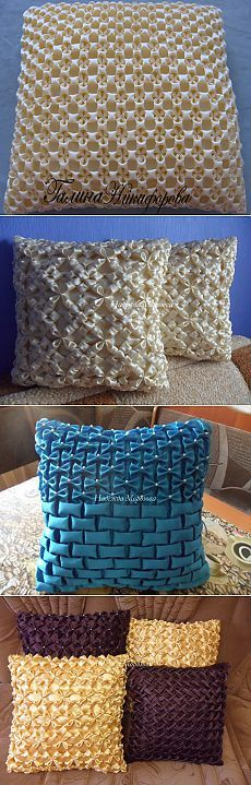 DECORATIVE PILLOWS. Schemes puff. Discussion on LiveInternet - Russian Service Online Diaries