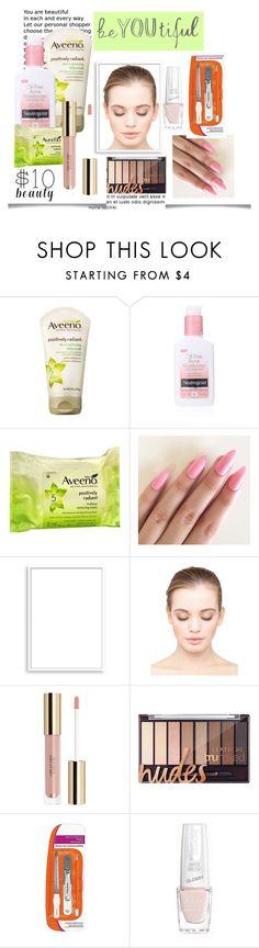 """""""$10 Beauty"""" by madcar-2013 ❤ liked on Polyvore featuring beauty, Neutrogena, Aveeno, Bomedo, eylure, Sally Hansen, Isadora and 10dollarbeauty"""