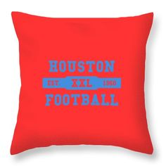5e787034a Oilers Throw Pillow featuring the photograph Houston Oilers Retro Shirt by Joe  Hamilton