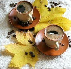 Autumn Coffee, Coffee Cozy, I Love Coffee, Coffee Art, Coffee Break, Coffee Time, Tea Time, Cross Stitch Landscape, Good Morning Coffee