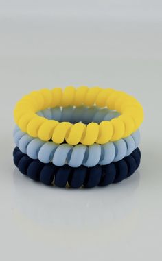 New Fashion Two Tone Colors Mix Long Slim Thin Elastic Telephone Wire Hair Circle Hair Rope Bracelets Hair Accessories Apparel Accessories