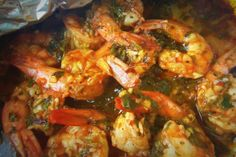 Spicy Cilantro Garlic Shrimp - Hispanic Kitchen Yum, spicy! Cooked in oven 375 or 400 for 10 min