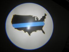 Thin Blue Line USA LED Logo Lights from Blackenwolf.com
