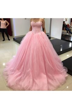 Charming Pink Ball gown Appliques Prom Dresses, Off the shoulder Sweetheart Tulle Sweet 16 Dresses, Quinceanera Dresses, 375 Quinceanera Dresses, Pink Prom Dresses, Sweet 16 Dresses, Plus Size Prom Dresses, Tulle Prom Dress, Formal Dresses For Women, Prom Dresses Online, Prom Party Dresses, Ball Dresses
