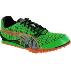 SALE - Mens Puma TFX Distance 3 Athletic Cleats Green Mesh - Was $65.00 - SAVE $30.00. BUY Now - ONLY $35.00