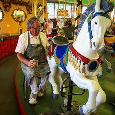 Looff Carousel love ❤️ Beachboardwalk.com/carousel Santa Cruz Beach, California Beach, Amusement Park, Whale, Carousels, My Favorite Things, Classic, Fun, Writing