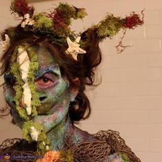 a closeup of the makeup, Evil Mermaid Costume