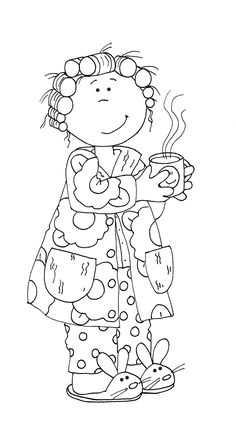 Free Dearie Dolls Digi Stamps: Good Morning Glory