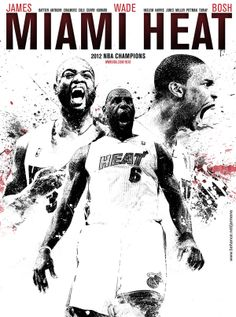 THE MIAMI HEAT by Franck Jmn, via Behance