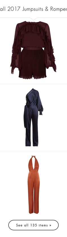 """Fall 2017 Jumpsuits & Rompers"" by pocahaunted666 ❤ liked on Polyvore featuring jumpsuits, rompers, dresses, playsuits, rompers / jumpsuits, women, tall jumpsuit, ruffle jumpsuits, chiffon romper and ruffle sleeve jumpsuit"