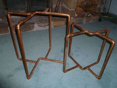 Copper pipe tables
