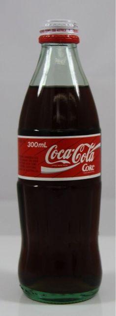 Coca Cola Coke Glass Bottle 300ml Screw Top Australia