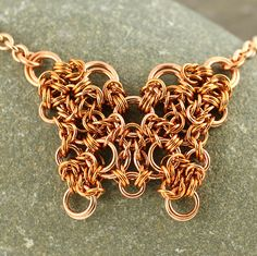 Copper butterfly Pendant Jewelry, Diy Jewelry, Jewelery, Jewelry Necklaces, Jewelry Design, Jewelry Making, Bracelets, Chainmaille, Jump Ring Jewelry