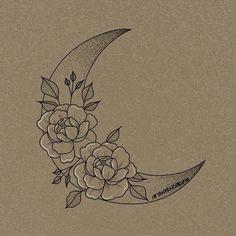 Hand Tattoos, Body Art Tattoos, Tribal Tattoos, Sleeve Tattoos, Cool Tattoos, Tatoos, Moon Tattoo Designs, Tattoo Design Drawings, Flower Tattoo Designs
