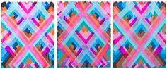 Maya Hayuk Chemtrail Triptych 2014 Circle...
