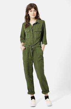 Topshop+'All+in+One'+Utility+Jumpsuit+available+at+#Nordstrom
