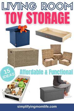 Closet Organisation, Budget Organization, Small Space Organization, Playroom Organization, Playroom Decor, Organizing, Living Room Toy Storage, Diy Box, Mom Blogs
