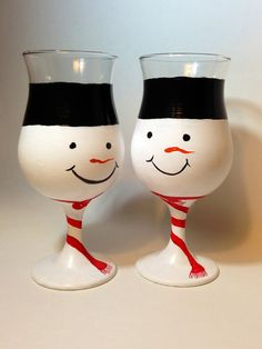 e Etsy listing at http://www.etsy.com/listing/154895665/set-of-2-hand-painted-snow-man-cocktail