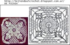 PATRONES - CROCHET - GANCHILLO - GRAFICOS: CUADRITOS CON SUS GRAFICOS
