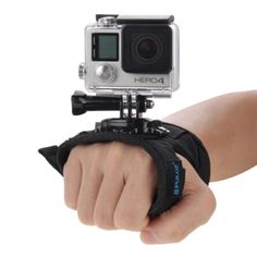 PULUZ 360 Degree Rotation Glove Style Palm Strap Mount Band for GoPro HERO4 Session /4 /3+ /3 /2 /1, Xiaomi Yi Sport Camera