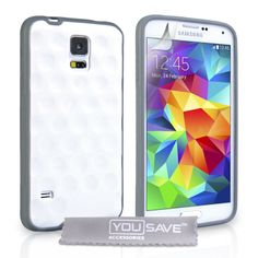 YouSave Samsung Galaxy S5 Bubble Case - White | Mobile Madhouse