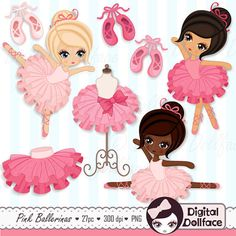 Items similar to Ballerina Clipart, Tutu / Ballet Clip Art, Ballerina Party / Printable Clipart on Etsy Ballerina Party Decorations, Tutu Ballet, Little Ballerina, Balerina, Pink Tutu, Rock Crafts, Cute Characters, Digital Stamps, Planner Stickers