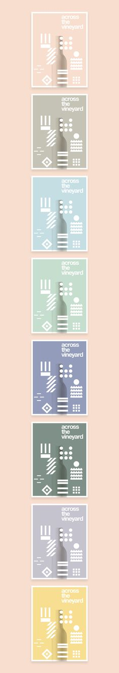 Across The Vineyard // Wine Collection on Branding Served