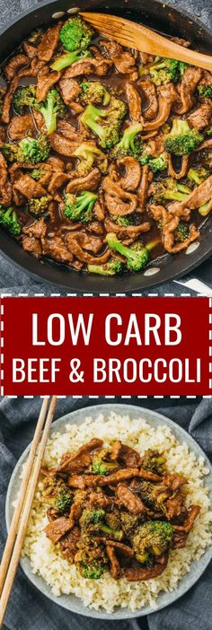 a low carb and keto friendly version of beef and broccoli stir fry cauliflower