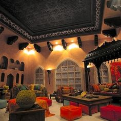 Moroccan Living Room Design, Pictures, Remodel, Decor and Ideas - page 2