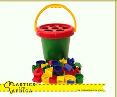 This shapes bucket, available from #PlasticsforAfrica will allow your kids to have endless fun. Visit your nearest store. #toys