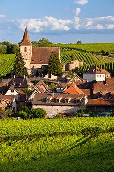 Village of Hunawihr, Alsace, France