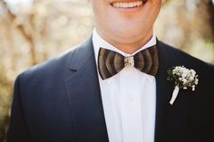 Abigail and Adam's NC Wedding | Photo: Michelle Lyerly #brackishbowties #weddingbowtie