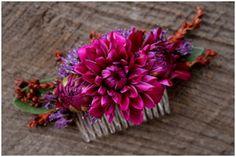 kwiaty we włosach:-)
