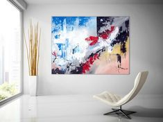 Extra Large Wall Art Original Handpainted Contemporary XL Abstract Painting Horizontal Vertical Huge Size Art Bright and Colorful Large Abstract Wall Art, Large Canvas Art, Diy Canvas Art, Canvas Ideas, Art Nouveau, Art Gallery, Design Tattoo, Extra Large Wall Art, Art Original