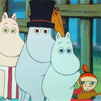 """Muumilaakson Tarinoita /// (Finnish for """"Tales from Moominvalley"""") story books and cartoons written and illustrated by Tove Jansson, turned into a tv series as well as movie. Kids Tv, 90s Kids, Moomin Books, Nostalgia, Tove Jansson, Old Cartoons, Little My, Theme Song, Childhood Memories"""