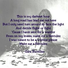 Make me a Hercules, by Sara Bareilles Sara Bareilles, Long I, Hercules, Meant To Be, Face, Quotes, Quotations, The Face, Faces