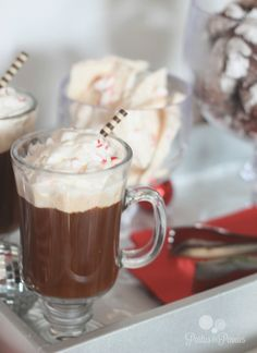 JC Penney Holiday Party - hot chocolate by PartiesforPennies.com #christmas #holidays