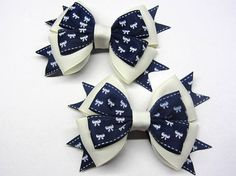 Beige hair bow for girl Girls hair bow set Beige hair clip