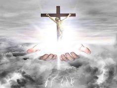 Az Atya tenyerén Jézus a kereszten