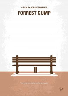 No193 My Forrest Gump minimal movie posterForrest Gum ... Posters by Chungkong Art, Each purchased we will plant 10 trees.
