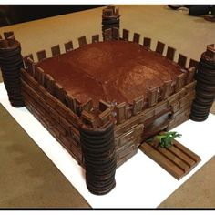 Castle cake for Knights and Dragon party OR use diff candy and colors Dora castle?!