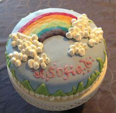 Othello regnbue lagkage/ rainbow cake