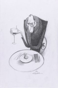 (Proportion) Concept Art, Ego, Ratatouille, 2007 created by Carter Goodrich. Character Design Animation, Character Design References, Character Drawing, Character Illustration, Character Concept, Ratatouille Disney, Ratatouille 2007, Disney Sketches, Disney Drawings